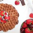 Grove chokoladevafler opskrift